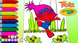 dreamworks trolls crayola coloring book poppy drawing pages for