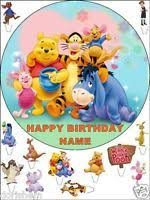 winnie the pooh edible icing picture rectangle cake topper b ebay