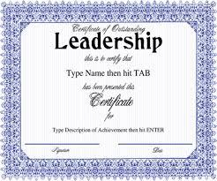 leadership award certificate template professional samples templates