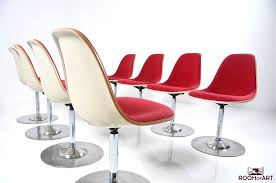 set of eight charles eames fiberglass chairs room of art