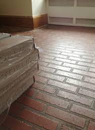 Red Brick Linoleum Flooring by Fake Brick Flooring Flooring Designs