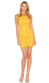 honey clothing endless lace mini dress in honey yellow revolve