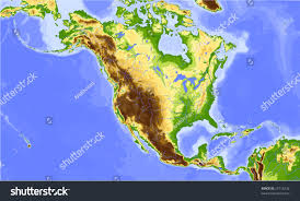 Physical Map Of Central America by North America Central America Physical Vector Stock Vector