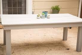 Farmhouse Patio Table by Diy Farmhouse Patio Table Positively Beautiful Life
