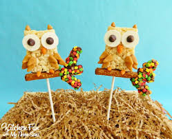 fall owl rice krispie treat pops kitchen fun with my 3 sons