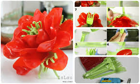 how to make flower from plastic spoons and forks crazzy craft