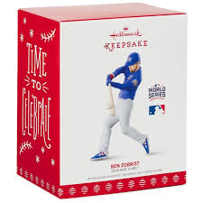 chicago cubs ben zobrist 2016 world series mvp ornament