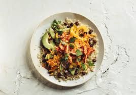 quinoa cuisine southwestern black bean quinoa bowl with pulled chicken