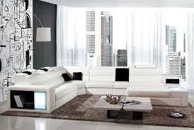 Sectional Sofas U Shaped Modern Living Room Leather Corner Sofa U Shaped Sectional Sofas