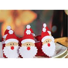 wholesale christmas santa claus napkin ring serviette holders