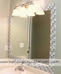 bathroom mirror ideas diy do it herself how to mosaic tile a mirror caffeine and cabernet