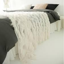 ivory fringes sheer bed runner decorative bed scarf