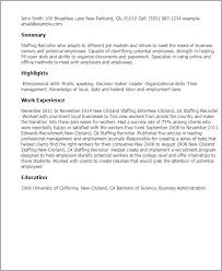 Recruiter Sample Resume by Astonishing It Staff Resume Staffing Recruiter Resume Sample With