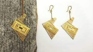spruce up with this architectural floor plan jewelry by qupa