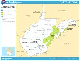 West Virginia online travel images Map of west virginia map federal lands and indian reservations png