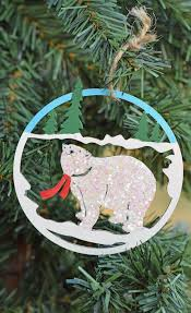 make a diy bear glitter christmas ornament craft with paint