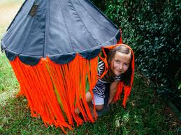 halloween ikea hack turn a circus tent into a witch tent diy