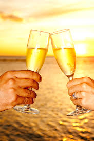 a magical champagne toast at sunset with my husband my vision