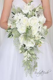wedding flowers greenery white cascading davids bridal wedding flowers greenery bouquet