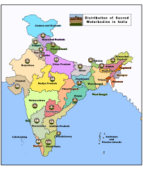 South India Map by Sacred Waterbodies