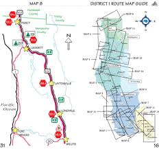 Caltrans District Map Pacific Coast Bike Route In Sections Maplets