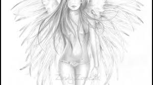 a drawing of an angel angel drawings google search angils