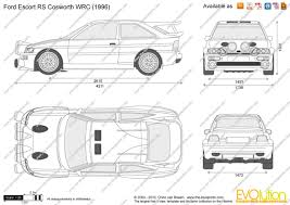 ford escort mk v rs cosworth group a 1993 racing cars
