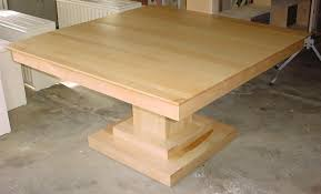 solid maple dining table