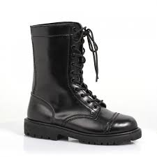 womens black moto boots combat boot for women with lace up front 1 inch heel
