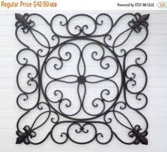 Fleur De Lis Headboard Super Xmas Sale Wrought Iron Wall Decor Black Wall Decor Fleur