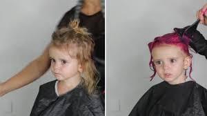 toddler hair branded irresponsible idiot for dyeing toddler s