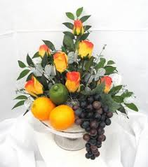 fruit flower arrangement arrangement with fresh fruit and veg with