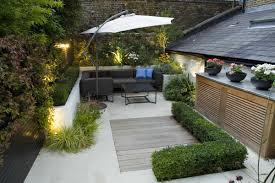 L Shaped Garden Design Ideas Interesting L To A Central Shape Małe Ogrody Pinterest