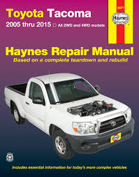 toyota tacoma 05 15 haynes repair manual haynes manuals