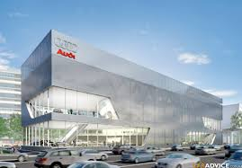 audi dealership exterior construction of vw autotrend car showroom in liberec doubi