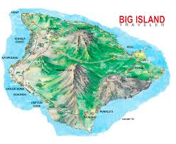 map of hawaii big island big island of hawaii illustrated island hopping