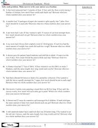multiplying and dividing fractions word problems worksheets worksheets
