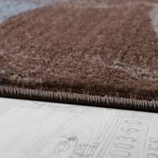 Teppich Schlafzimmer Beige Teppich Wellen Abstrakt Braun Design Teppiche