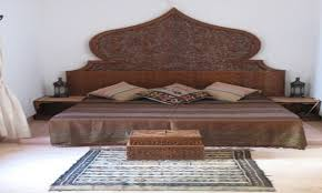 bedroom moroccan headboard king brass bed frame arabian decor