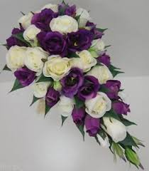 lisianthus flower silk purple lisianthus flower teardrop bouquet flower
