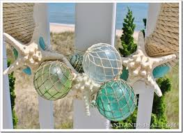 glass float summer wreath