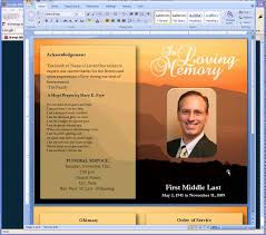 memorial service programs templates free free funeral program templates