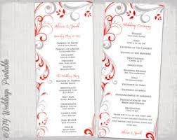 black and white wedding programs wedding program etsy