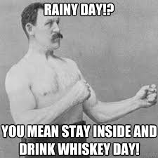 Rainy Day Meme - rainy day you mean stay inside and drink whiskey day overly