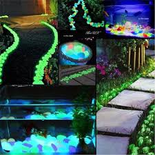 Home Stones Decoration Deco Diy Home Garden Parterre Decor Glow In The Pebbles Stones Il