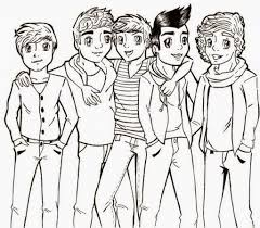 coloring pages one direction coloring pages free and printable