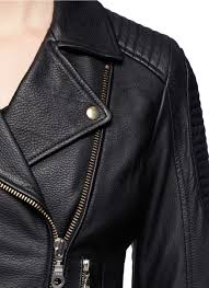 leather bike jackets for sale whistles patti leather biker jacket in black lyst