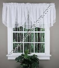 Lace Valance Curtains Lace Ascot Valance White Renaissance Kitchen Valances