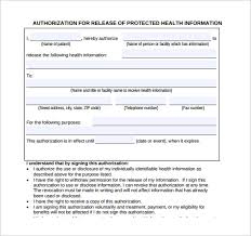 generic medical record release form 10 free samples examples