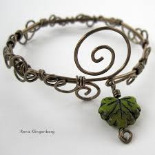 wire bracelet images Leaf vine filigree wire bracelet tutorial jewelry making journal jpg